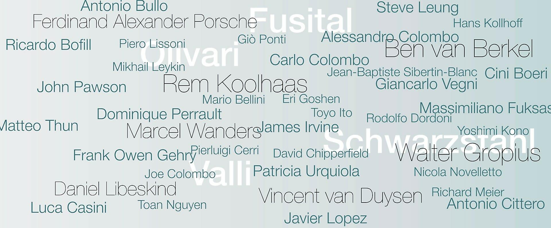Wereldberoemde designers en ontwerpers
