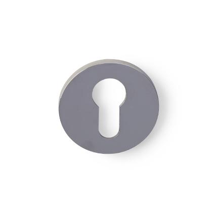 Cilinderrozet dun rond nikkel