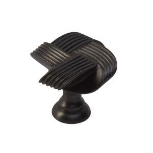 Knop Lazo dark bronze 33x33