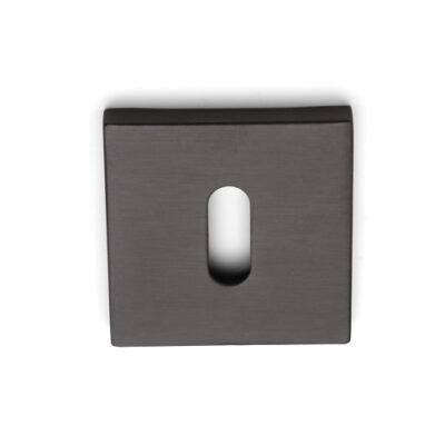 Sleutelrozet vierkant titanium black